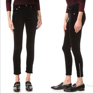 Rag & Bone Velvet 10 Inch Capri Jeans